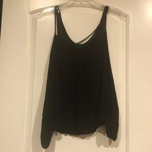 Charlotte Russe Sexy Black Cut-out Shirt
